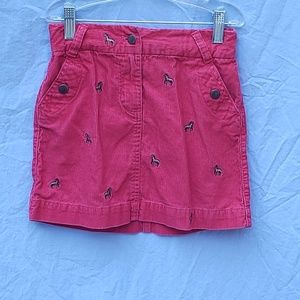 Crew cut embroidered skirt